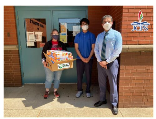 DHC Delivers Face Masks to JB Atkinson Elementary